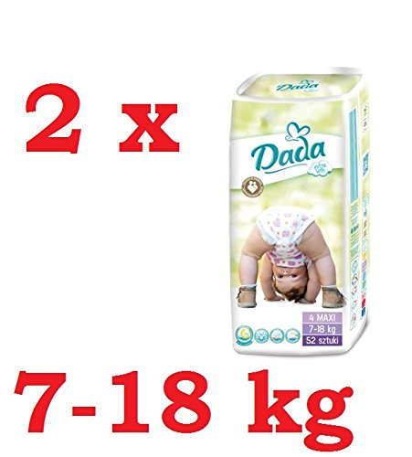 Preisvergleich Produktbild Windeln DADA Extra Soft 4 MAXI (7-18kg) 2 Pack (2 x 52 Stück)