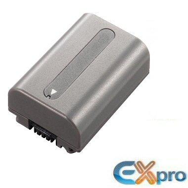 Galleria fotografica Ex-Pro - Batteria di ricambio agli ioni di litio NP-FP50 NPFP50, High Power Plus+, per videocamere S