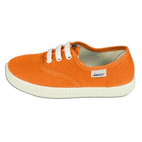 javer - Zapatillas Lona Infantil bebé-niños Color: Naranja Talla: 24