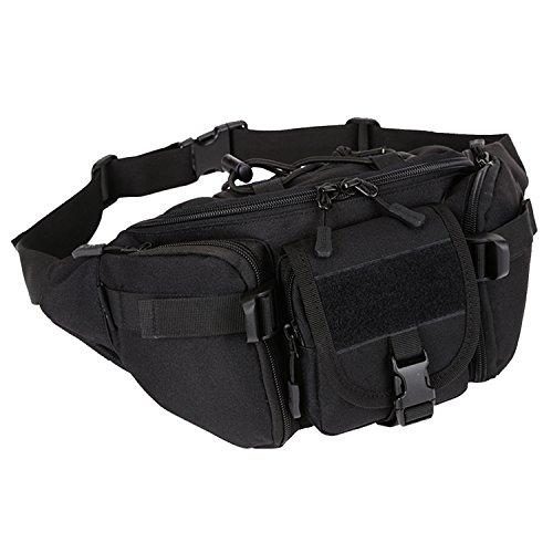 matoger Tactical Waist Pack Nylon Jagd Gürteltasche schwarz