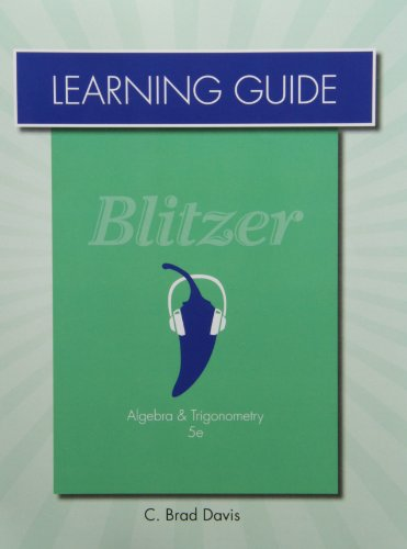 Learning Guide for Algebra and Trigonometry
