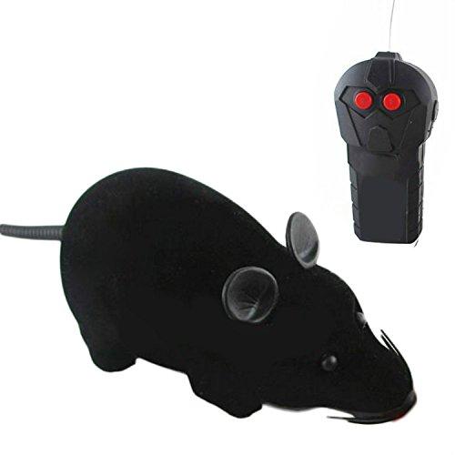 Mini Zweikanal-Batterie betrieben Fernbedienung Ratte Maus-Spielzeug f¨¹r Hund Katze Haustier-Neuheit-Geschenk Lustige Grau - Betrieben Spielzeug Batterie