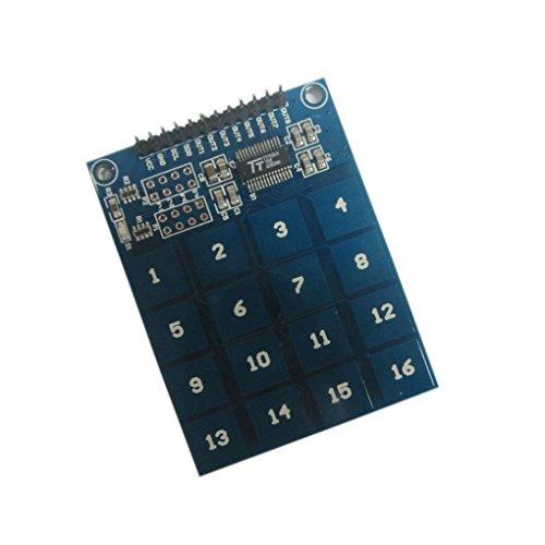 Preisvergleich Produktbild Bobury Arduino Keypad TTP229 16 Kanal Digital Kapazitiver Schalter Touch Sensor Modul