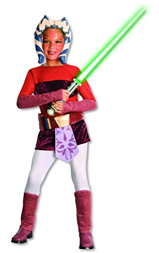Star Wars Ahsoka Deluxe Kostüm für Kinder, (Ahsoka Kostüm)