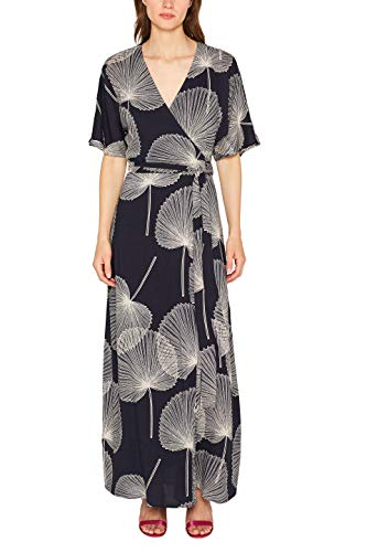 ESPRIT Collection Damen 079EO1E003 Kleid, Schwarz (Black 001), Herstellergröße: 38 -