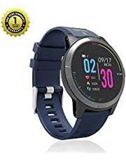 MevoFit Race-Thrust ECG-Smart-Watch for Fitness & Health PRO Sporty-Health-ECG-Smart-Watch, All Activity Tracking (Blue)