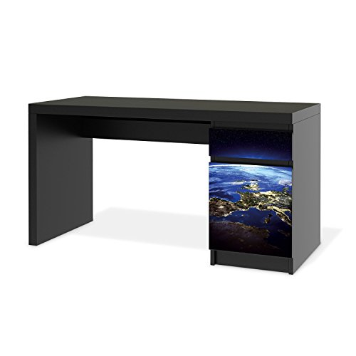 klebefolie sticker tapete f r ikea malm schreibtisch kommode m bel dekorieren. Black Bedroom Furniture Sets. Home Design Ideas