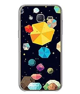 PrintVisa Designer Back Case Cover for Samsung Galaxy J2 J200G (2015) :: Samsung Galaxy J2 Duos (2015) :: Samsung Galaxy J2 J200F J200Y J200H J200Gu (Colors Gems Gemology)