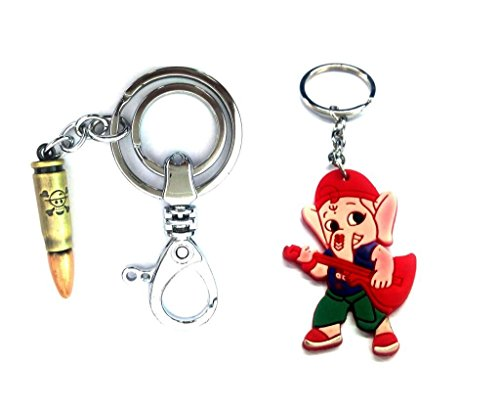 Parrk Thick Bullet Strong Locking With Bal Ganesh Key Chain  available at amazon for Rs.199