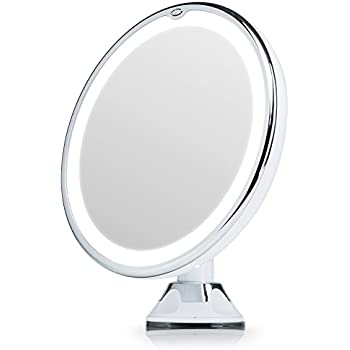Fancii lighted magnifying makeup mirror 7x with natural led lights fancii lighted magnifying makeup mirror 7x with natural led lights locking suction cup cordless mozeypictures Images