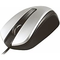 Cliptec RZS967 Silver basic con motivo Comfort II mouse ottico con filo per PC/portatili