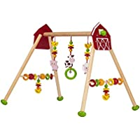 solini Baby Spieltrapez Bauernhof 5-stufig höhenverstellbar / Holz Spielzeug / ab Geburt / bunt/Natur preisvergleich bei kleinkindspielzeugpreise.eu