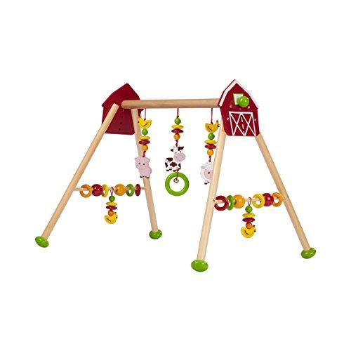 solini Spieltrapez Bauernhof / Spielbogen - Holz, höhenverstellbar, bunt - Babyspielgerät / Babyspielzeug