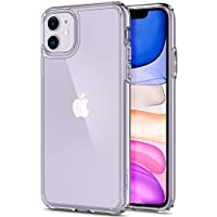 Spigen Ultra Hybrid, Designed for iPhone 11 Case, Clear Hard PC Back Flexible Bumper with Shockproof Air Cushion Case for iPhone 11 - Crystal Clear