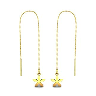 Candere By Kalyan Jewellers 22k (916) Yellow Gold Nasrin Drop Earrings