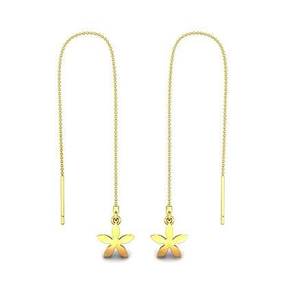 Candere By Kalyan Jewellers 22k (916) Yellow Gold Nasrin Drop Earrings