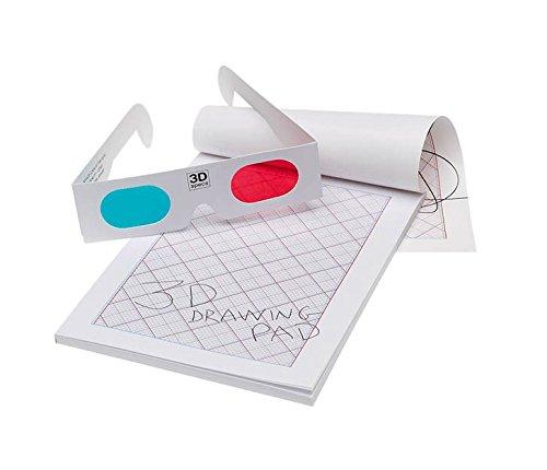 NPW 3D-Brille Doodle Sketch Book-3D-Zeichenblock - 3d-kunst Maker