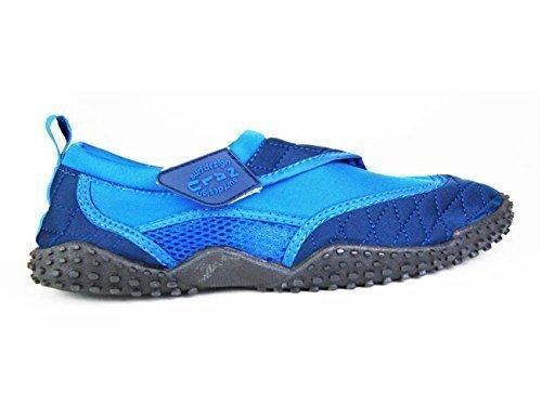 Nalu , Mädchen Aquaschuhe, - Blue with Navy Trim - Größe: Kids UK 7 / EU 25 (Navy Trim Kinder Schuhe)