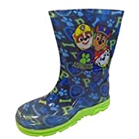 Boys Official PAW Patrol Wellies Blue Wellington RAIN Snow Boots UK Size 5-10