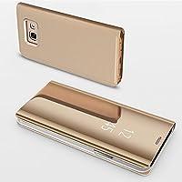 ZCXG Handyhülle für Samsung Galaxy A3 2017,Handy Case in Gold Spiegelnd Hülle Spiegel Schutzhülle Clear View Protective... preisvergleich bei billige-tabletten.eu
