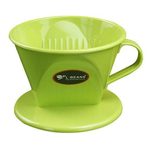 P Prettyia Kaffeebereiter Kaffeefilter Ersatz Filter - Grün, 11.7cm