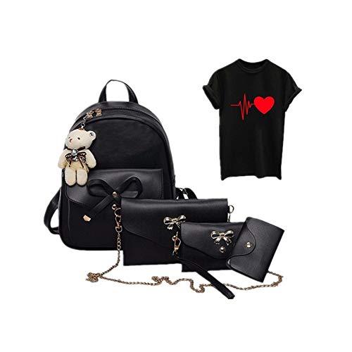 iHENGH Zaino Stampa Semplice Pelle Pu Per Donna Borsa A Mano 2019 Nuovo Studente Moda Casual Vintage Borstta Fashion Work Elegante...