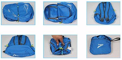 Leaper Outdoor Wasserdicht Multifunktionsrucksack füt Ausßflug Reisen,20L (Schwarz) Schwarz
