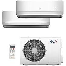 ARGO BRIGHT DUAL 9+9 Climatizzatore Dual Split, Bianco, 9+9