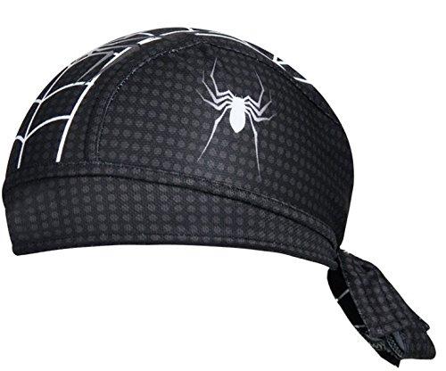 ShopINess - Gorro Bandana Ciclismo Spiderman Negro