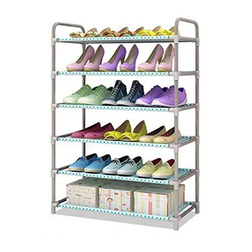 LXDDB Schuhregale 6 Ebenen Metall Regal faltbar stapelbar Aufbewahrungsbox 18 Paar Schuhe Balkon Eingang Ecke Eingang -