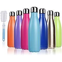 BOGI 17oz Aislado Botella de Agua Doble Pared vacío Botella a Prueba de Fugas de Acero Inoxidable Mantiene Caliente y frío Bebidas para Deportes al Aire ...
