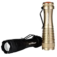 Canwelum Zoom High-power Cree LED Torch, 3-mode Tactical Mini LED Flashlight (2 x Torches and 2 x Batteries)