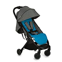 Hauck Swift One Hand, Compact Fold Pushchair with Raincover, Melange Grey/Black