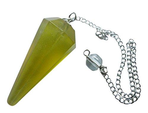 Gemme sfaccettate Flourite pendolo-giallo Flourite pendolo