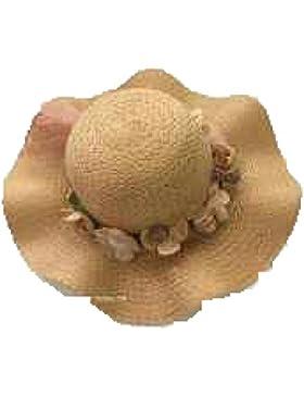 Sombrero De Paja Femenino Sombrero De Playa Del Verano Borde De La Onda Sombrero De Padre-hijo Protector Solar...