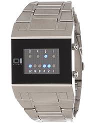 Binary THE ONE KERALA TRANCE KT102B2 - Reloj digital de caballero de cuarzo con correa de acero inoxidable plateada - sumergible a 30 metros