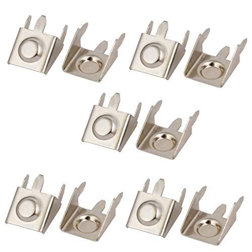 Miki&Co 10Stk Metall AA Batterie Snap Positive Schrapnell Kontaktplatte Silber Ton Batterie-snap
