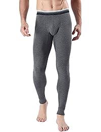 ZKOO Ropa Interior Térmica Pantalones para Hombre Slim Stretch Térmica de Calzoncillos Largo