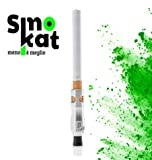 SMOKAT bocchino per sigaretta Classica 8 MM (catalizzatore per riduzione danno da fumo) Argento