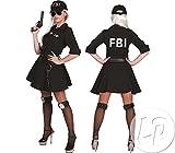 FBI Agent Kostüm Polizistin für Damen Gr. 44 46