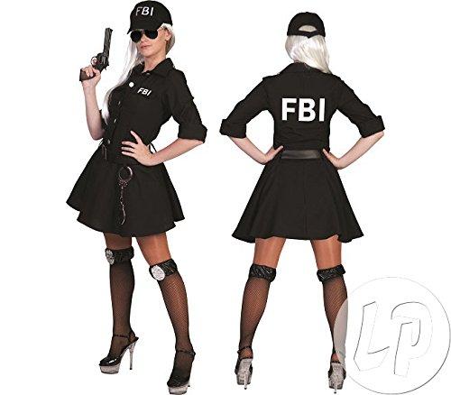 Fbi Kostüm Sexy - Kostüm FBI Agent Damen Größe 36/38 3 teilig mit Basecap