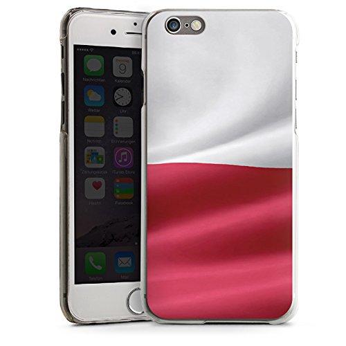 Apple iPhone 6 Housse Étui Silicone Coque Protection Drapeau Pologne Pologne Drapeau CasDur transparent