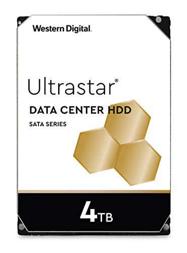 Sata Festplatte Server (Western Digital WD Ultrastar 4TB DC HC310 SATA HDD, 3,5 Zoll interne Festplatte für Server 256 MB Cache, Enterprise Klasse)