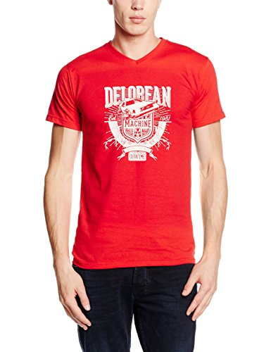 Touchlines Delorean Machine, T-Shirt Uomo Rosso (Red 08)