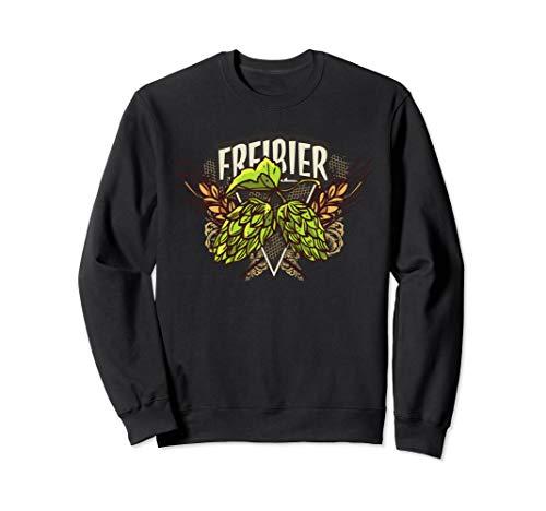 Freibier für Biertrinker - Lustiges Oktoberfest Bier Sweatshirt -