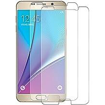 [2-Pack] Samsung Note 5 Cristal Templado Protector de Pantalla, Nazzamo Samsung Note 5 Templado Vidrio Protector de Pantalla [9H Dureza] [Ultra-trasparente] [Sin Burbujas] [Resistente a Arañazos] Protector Cristal Vidrio Templado para Samsung Note 5