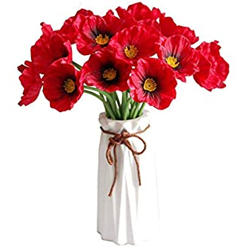 Calcifer 20/Pcs 53/cm Soie Ma/ïs Coquelicots Fleurs de Pavot Artificielle pour Home Garden D/écoration de F/ête de Mariage Mari/ée Demoiselle dhonneur Bouquets