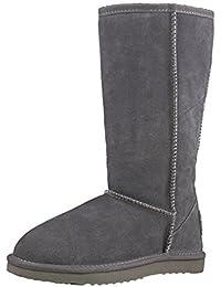 Shenduo Zapatos Invierno clásicos - Botas de nieve de piel de alta pierna impermeable antideslizante para Mujer D5115