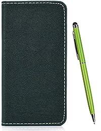 TOUCASA Funda Xiaomi Redmi 7,PU Cuero Slim Bling Color sólido Case de Estilo Billetera Carcasa Silicona Case Interna Suave [Cierre Magnético] Funda para Xiaomi Redmi 7 (Verde)