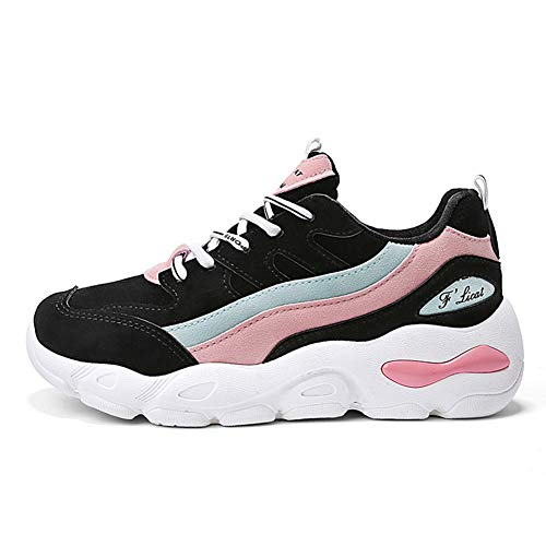 He-yanjing Ladies Athletic Sneakers, Sport e Casual Scarpe da Donna Fall New Studente Deep Bouth Travel Shoes (Colore : Un, Dimensione : 40)